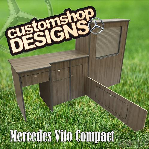Mercedes Vito Compact (2003 - Onward) SWB Camper Van Flat Pack Kitchen Unit