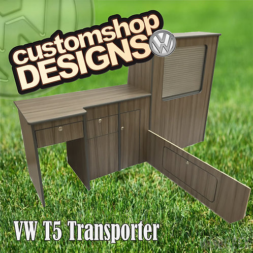 VW T5 Transporter (2004 - 2015) SWB Camper Flat Pack Kitchen Unit