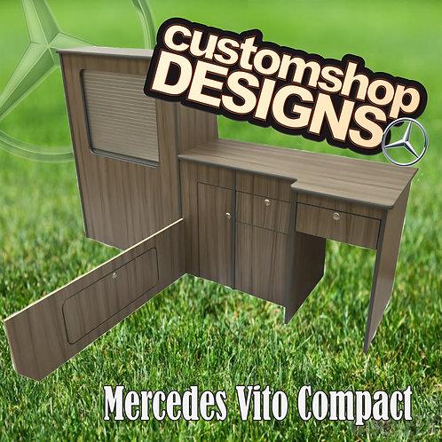 Mercedes Vito Compact (2003 - Onward) SWB (LHD) Camper Van Flat Pack Kitchen Uni