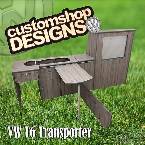 VW T6 Transporter (2015 - Onward) LWBCamper Flat Pack Kitchen Unit