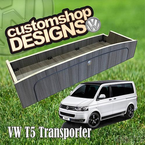 VW T5 Transporter (2004 - 2015) SWB / LWB Full Width (1100mm) Over Bed Locker