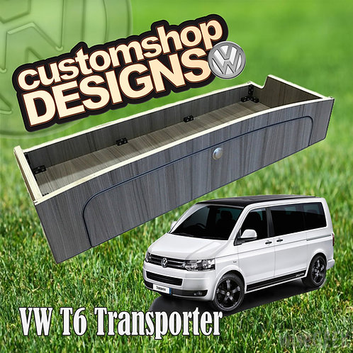 VW T6 Transporter (2015 - Onward) SWB / LWB 3/4 Width Over Bed Locker
