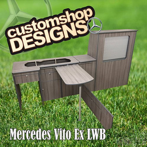 Mercedes Vito Extra LWB (2003 - Onward) Camper Van Flat Pack Kitchen Unit