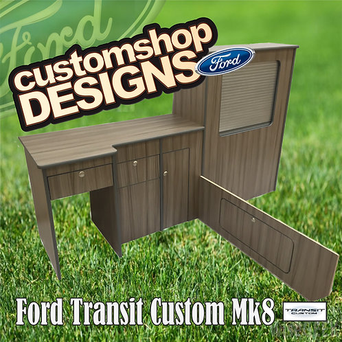 Ford Transit Custom (2013 - Onward) SWB Camper Flat Pack Kitchen Unit