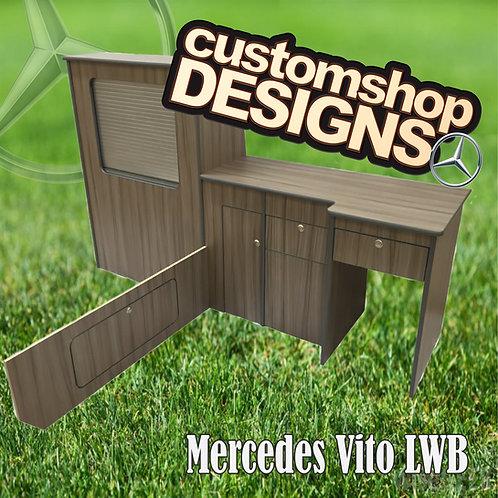 Mercedes Vito LWB (2003 - Onward) (LHD) Camper Van Flat Pack Kitchen Unit