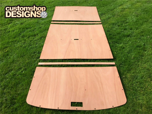 van ply lining templates - vw t4 transporter swb caravelle roof ply lining