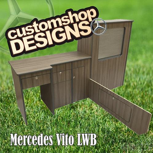 Mercedes Vito LWB (2003 - Onward) Camper Van Flat Pack Kitchen Unit