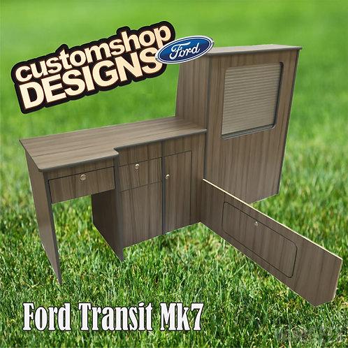 Ford Transit Mk7 (2001 - 2013) SWB Camper Flat Pack Kitchen Unit