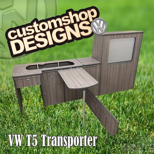 VW T5 Transporter (2004 - 2015) LWBCamper Flat Pack Kitchen Unit