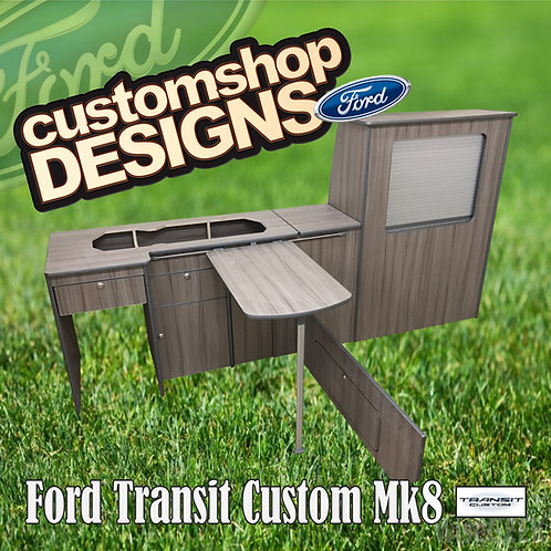 Ford Transit Custom (2013 - Onward) LWB Camper Flat Pack Kitchen Unit