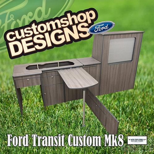 Ford Transit Custom (2013 - Onward) LWBCamper Flat Pack Kitchen Unit