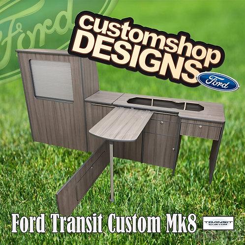 Ford Transit Custom (2013 - Onward) LWB (LHD) Camper Flat Pack Kitchen Unit