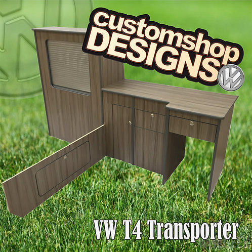 VW T4 Transporter (1990 - 2003) SWB (LHD) Camper Flat Pack Kitchen Unit