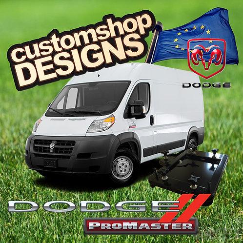 Dodge Promaster (2006 Onward) Double Seat Swivel Base (LHD US / European Model)