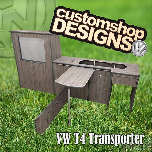 VW T4 Transporter (1990 - 2003) LWB (LHD) Camper Flat Pack Kitchen Unit