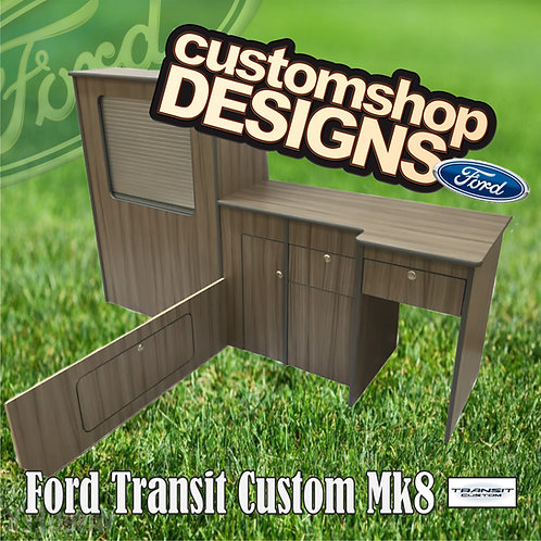 Ford Transit Custom (2013 - Onward) SWB (LHD) Camper Flat Pack Kitchen Unit