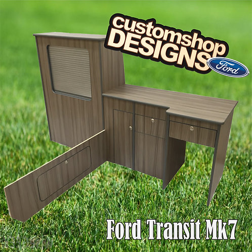 Ford Transit Mk7 (2001 - 2013) SWB (LHD) Camper Flat Pack Kitchen Unit