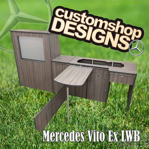 Mercedes Vito Extra LWB (2003 - Onward) (LHD) Camper Van Flat Pack Kitchen Unit