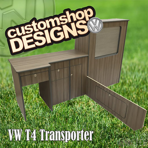 VW T4 Transporter (1990 - 2003) SWB Camper Flat Pack Kitchen Unit