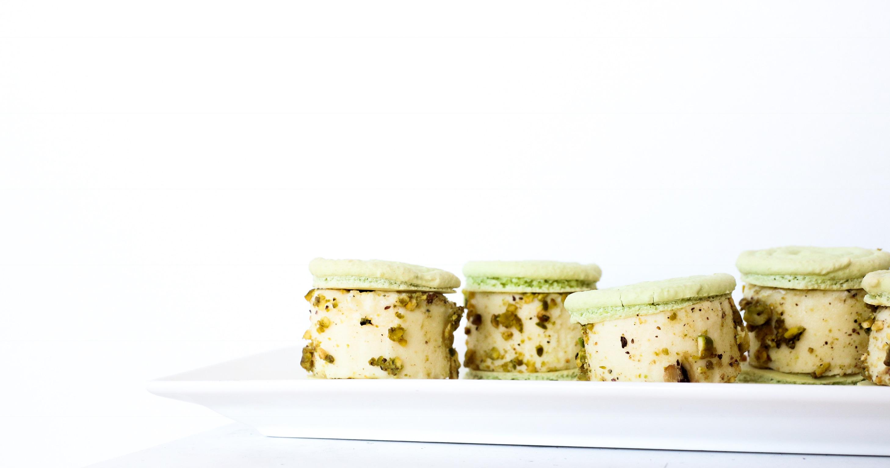 Macaron ice cream sandwiches!
