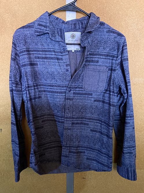 Denim Patterned Button Up Shirt