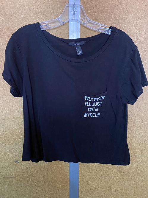 Wutever Black Crop T Shirt