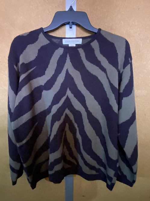 Zebra, But Make It Fashion Sweater