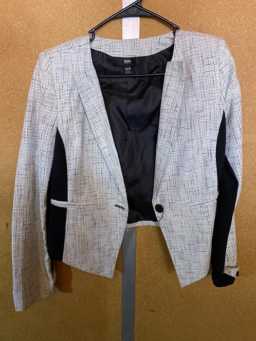 Light grey and black blazer