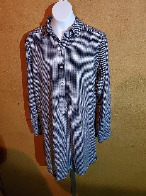 White and Blue Dress Shirt