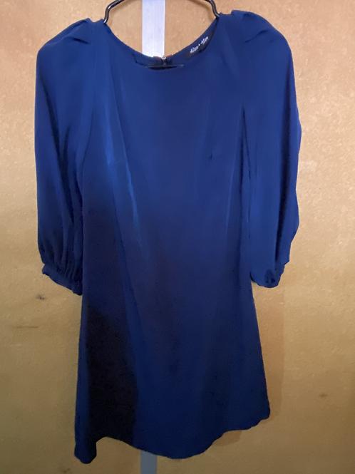 Blue Puff Sleeve Dress