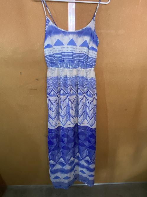 Blue and White Pattern Dress