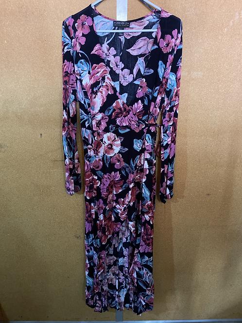 Long Sleeve, Floral Maxi Dress