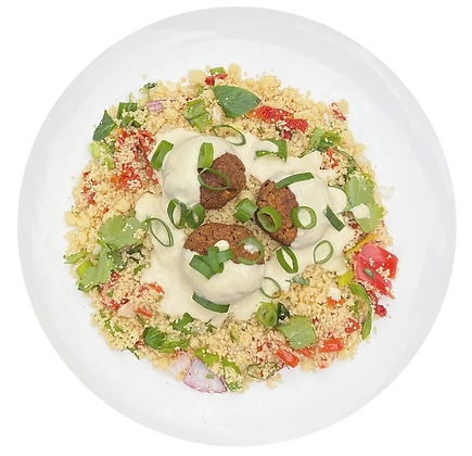 Falafel and couscous salad