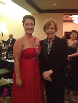Jess with Carol Burnett
