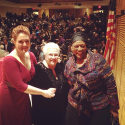 with Marilyn Horne and Jessye Norman