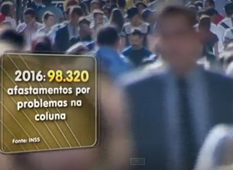 Dor nas costas é o problema que mais afasta os brasileiros do trabalho