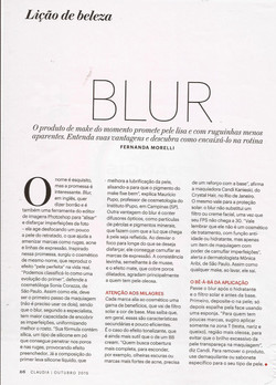 Claudia - Outubro 2015 - Blur