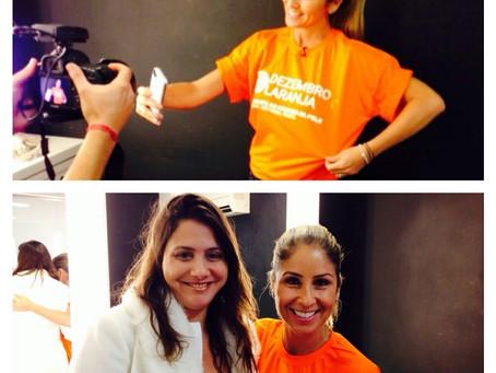 A jornalista Patricia Maldonado já está na luta de combate ao câncer da pele