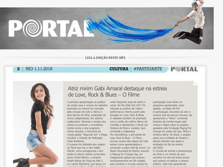 O Jornal Portal destacou a atriz mirim Gabi Amaral no filme Love,Rock and Blues - O Filme