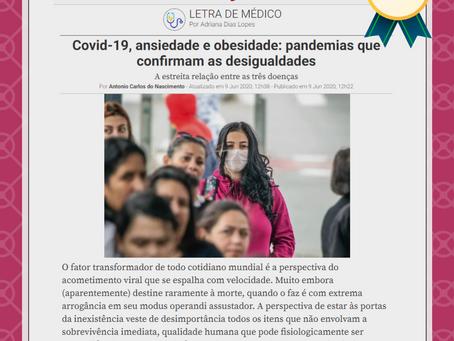 Covid-19, ansiedade e obesidade: pandemias que confirmam as desigualdades