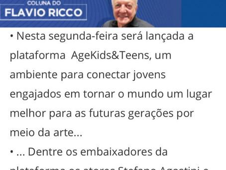 Plataforma Age Kids e Teens é destaque na coluna do Flávio Ricco, no portal R7