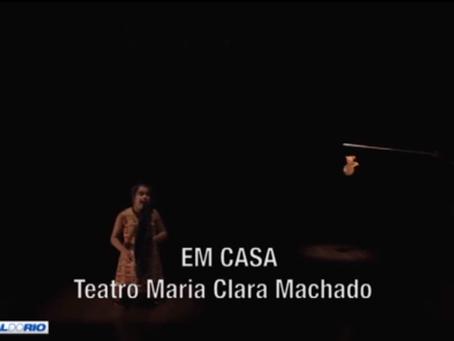 """O espetáculo """"Em Casa"""" foi destaque no programa Divirta-se, da Band"""