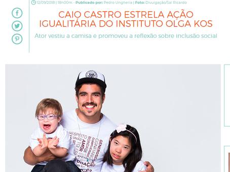 O Fuxico fala sobre ação inclusiva em que Caio Castro participa