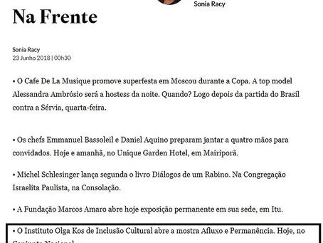 Instituto Olga Kos de Inclusão Cultural foi destaque na Coluna da Sonia Racy