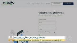 Missão Covid: ganha destaque no Jornal Hoje