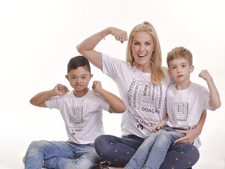 Fofura! Ana Hickmann e o filho de 4 anos estrelam campanha