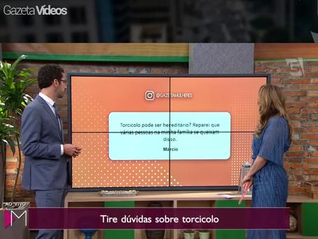 Tv Gazeta tira suas dúvidas sobre torcicolo.