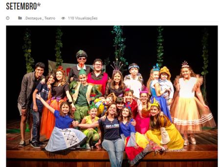 O site Roteirinho Carioca destacou a estreia do Musical Salada de Fábulas, 8 de setembro