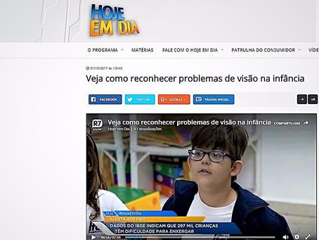 Segundo dados do IBGE, quase 300 mil crianças brasileiras têm algum tipo de dificuldade para enxerga