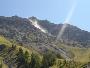 Avalanche de pierre au Cédera